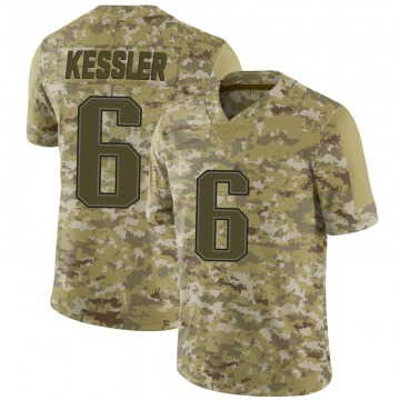 Men's Cody Kessler New England Patriots Limited Camo 2018 Salute to Service Jersey