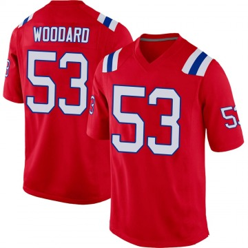 Men's Dustin Woodard New England Patriots Game Red Alternate Jersey