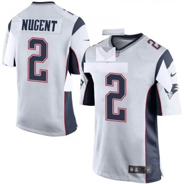 Men's Mike Nugent New England Patriots Game White Jersey