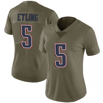 Women's Danny Etling New England Patriots Limited Green 2017 Salute to Service Jersey
