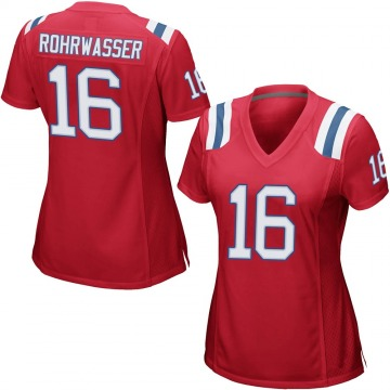 Women's Justin Rohrwasser New England Patriots Game Red Alternate Jersey