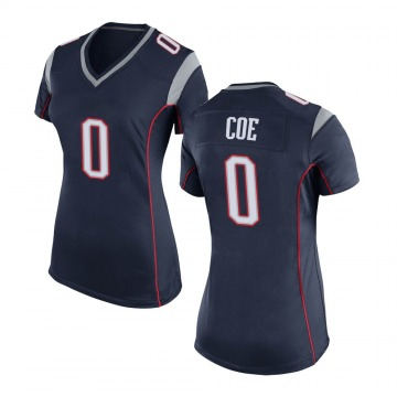 Women's Nick Coe New England Patriots Game Navy Blue Team Color Jersey