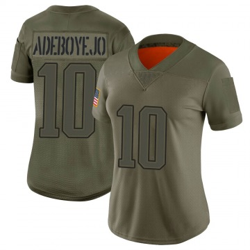 Women's Quincy Adeboyejo New England Patriots Limited Camo 2019 Salute to Service Jersey