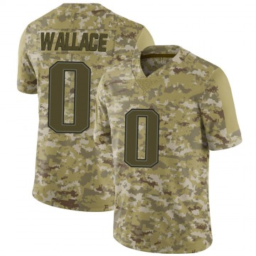 Youth Courtney Wallace New England Patriots Limited Camo 2018 Salute to Service Jersey