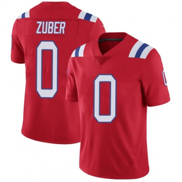 Youth Isaiah Zuber New England Patriots Limited Red Vapor Untouchable Alternate Jersey