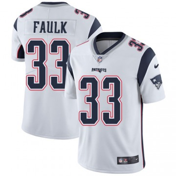 Youth Kevin Faulk New England Patriots Limited White Jersey