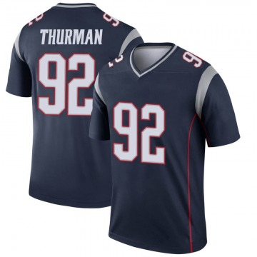 Youth Nick Thurman New England Patriots Legend Navy Jersey