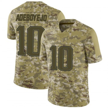 Youth Quincy Adeboyejo New England Patriots Limited Camo 2018 Salute to Service Jersey
