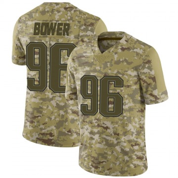 Youth Tashawn Bower New England Patriots Limited Camo 2018 Salute to Service Jersey